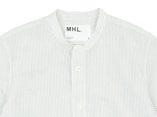 MHL. GRAPHIC COTTON STRIPE NO COLLAR SHIRTS