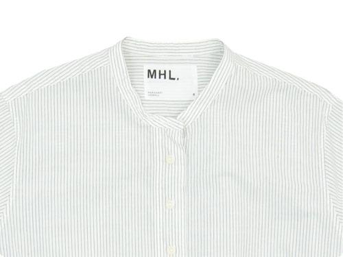 MHL. GRAPHIC COTTON STRIPE P/O SHIRTS