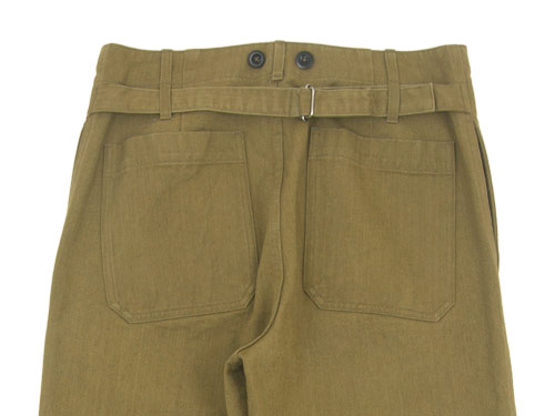 MHL. HEAVY COTTON DRILL CINCHED BACK TROUSER