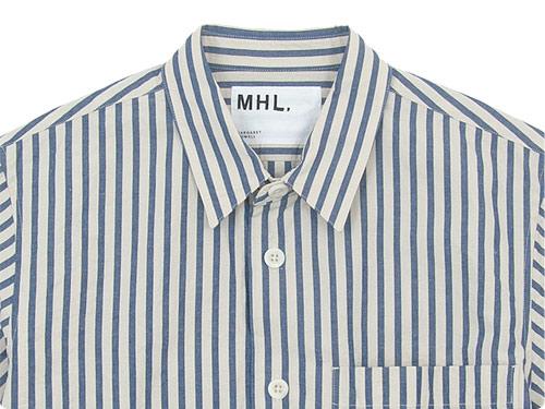 MHL. COTTON LINEN PJ STRIPE SHIRTS