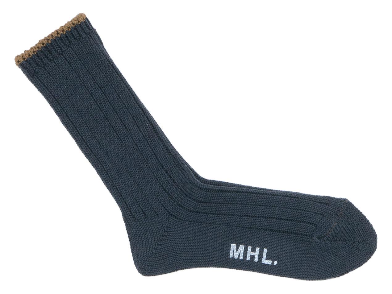 MHL. TIPPED COTTON RIB SOCKS 〔メンズ〕