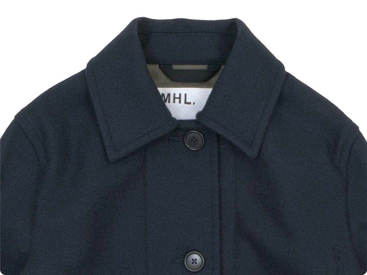MHL. BASIC WOOL MELTON COAT