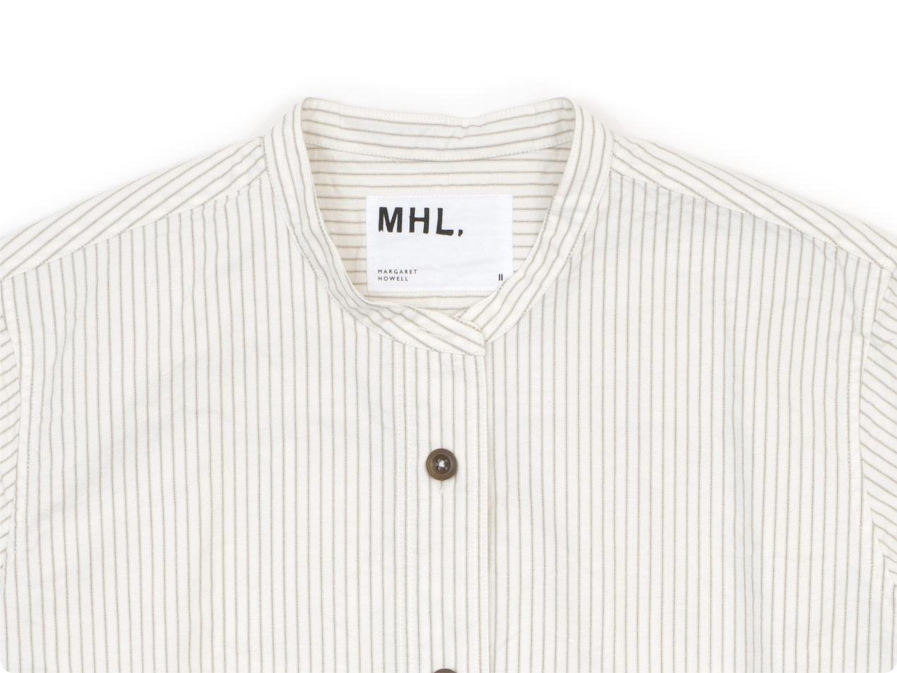 MHL. COMPACT COTTON STRIPE P/O SHIRTS