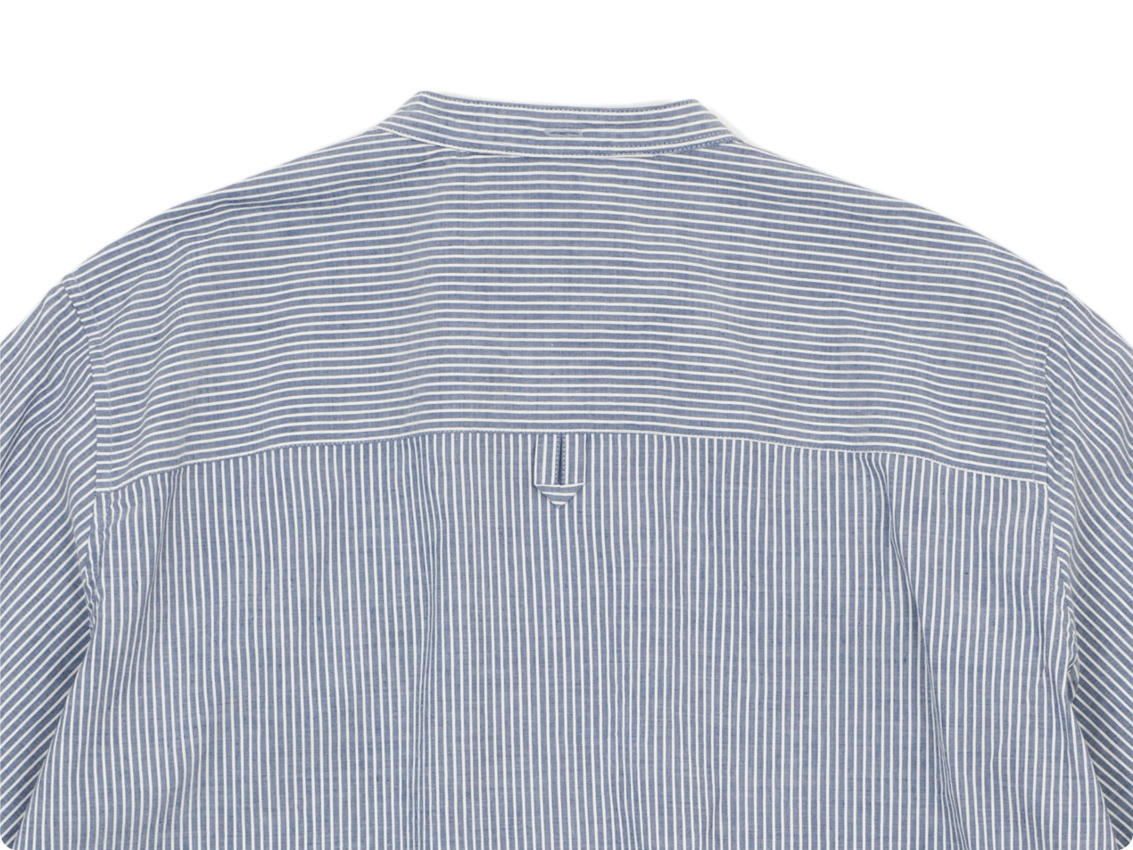 MHL. COTTON LINEN STRIPE S/S SHIRTS〔レディース〕