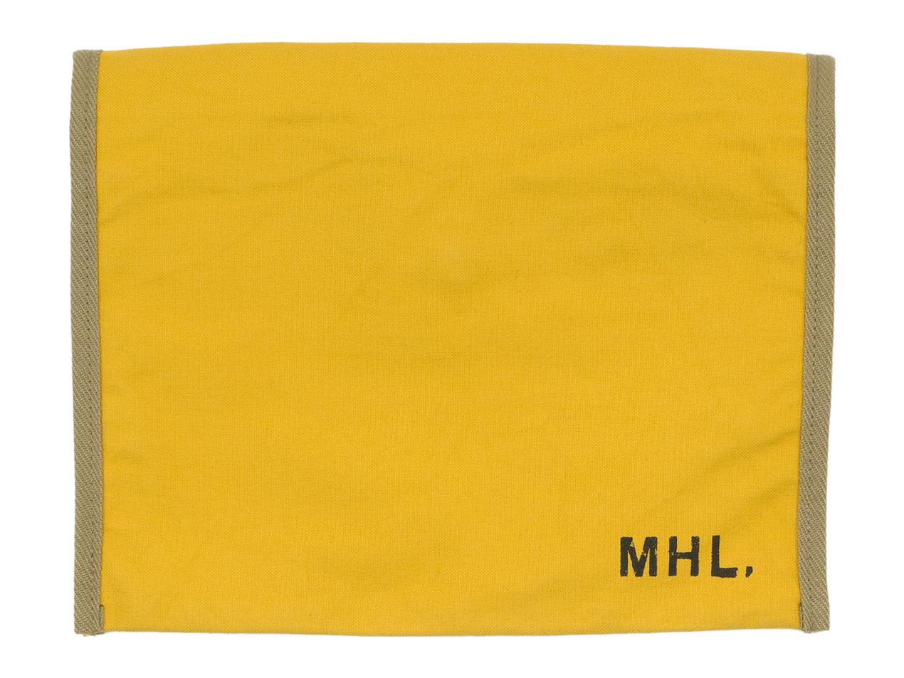 MHL. BASIC COTTON CANVAS POUCH LARGE