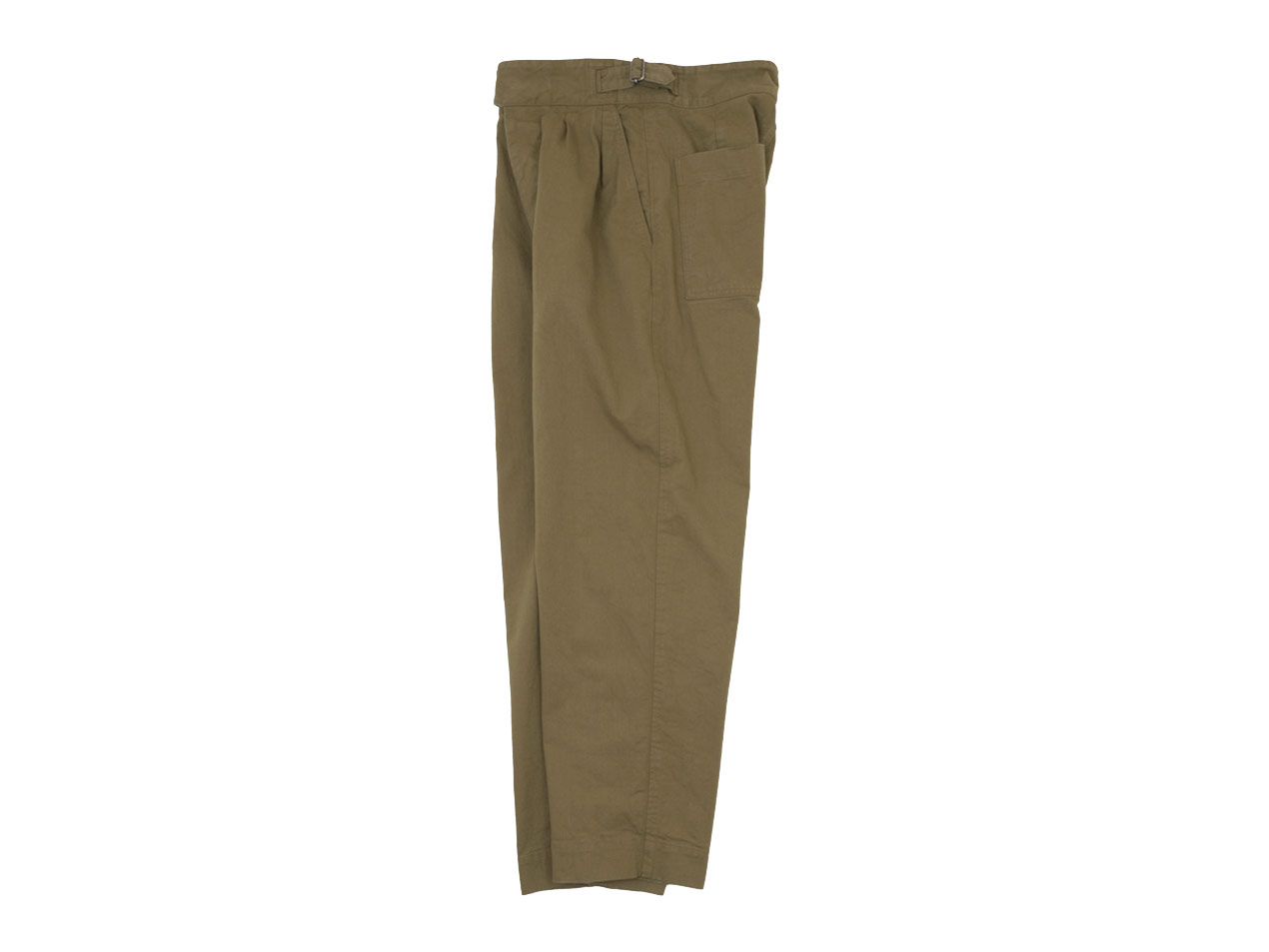 MHL. WORKWEAR COTTON DRILL CINCH FRONT TROOUSER