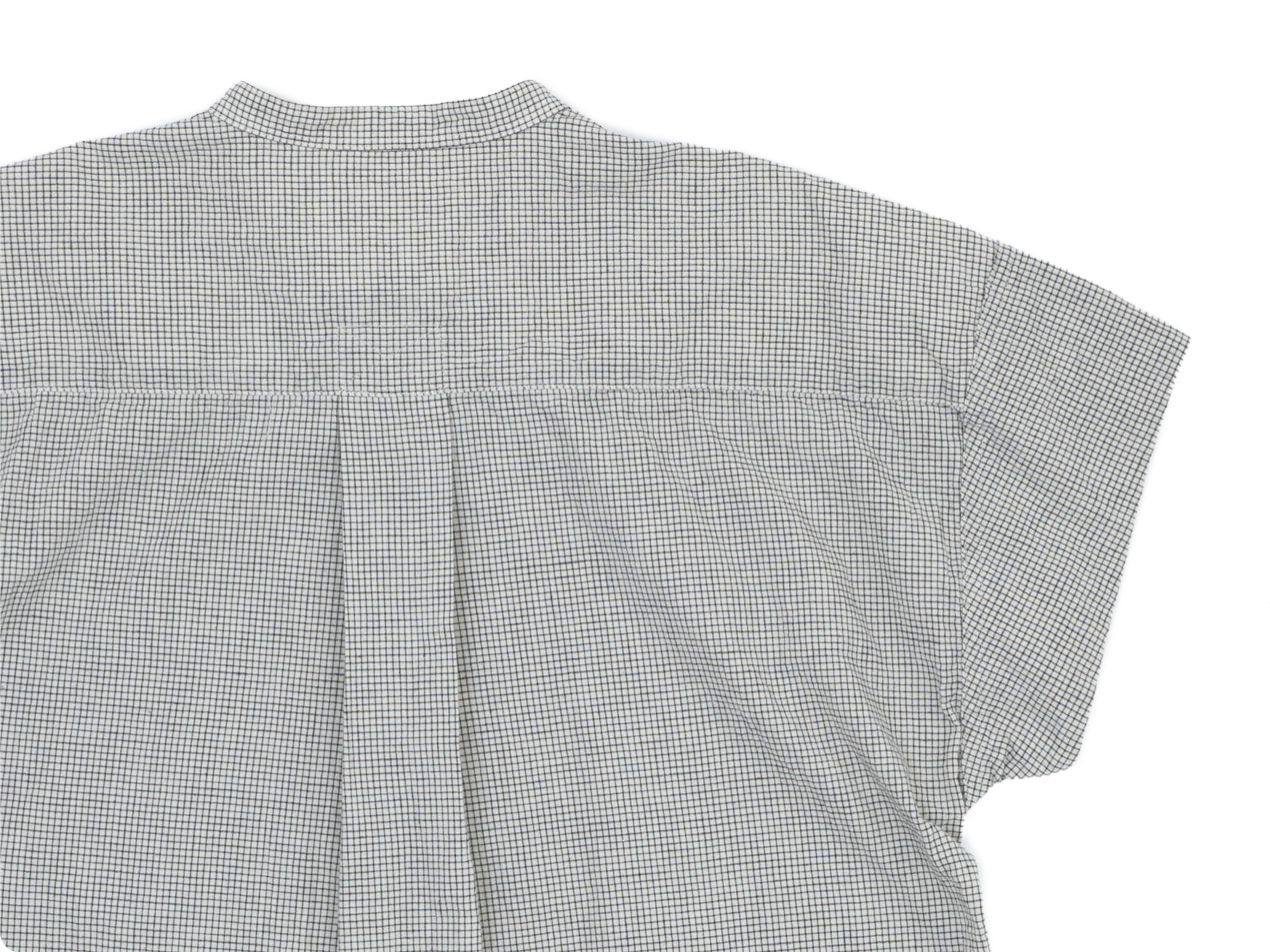 MHL. NATURAL WASHER COTTON LINEN S/S CHECK SHIRTS〔レディース〕