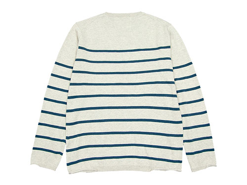 MHL. BULKY COTTON TWIST BORDER KNIT