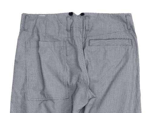 MHL. YARN DYE DRY COTTON PANTS
