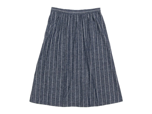 MHL. ROUGH COTTON LINEN SHIRTING SKIRT