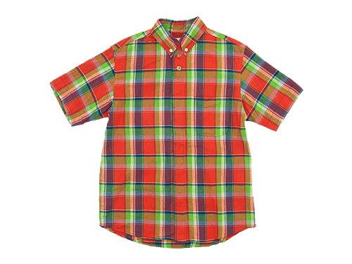 nisica 半袖ボタンダウンシャツ チェック / デッキマンシャツ 半袖 オックス