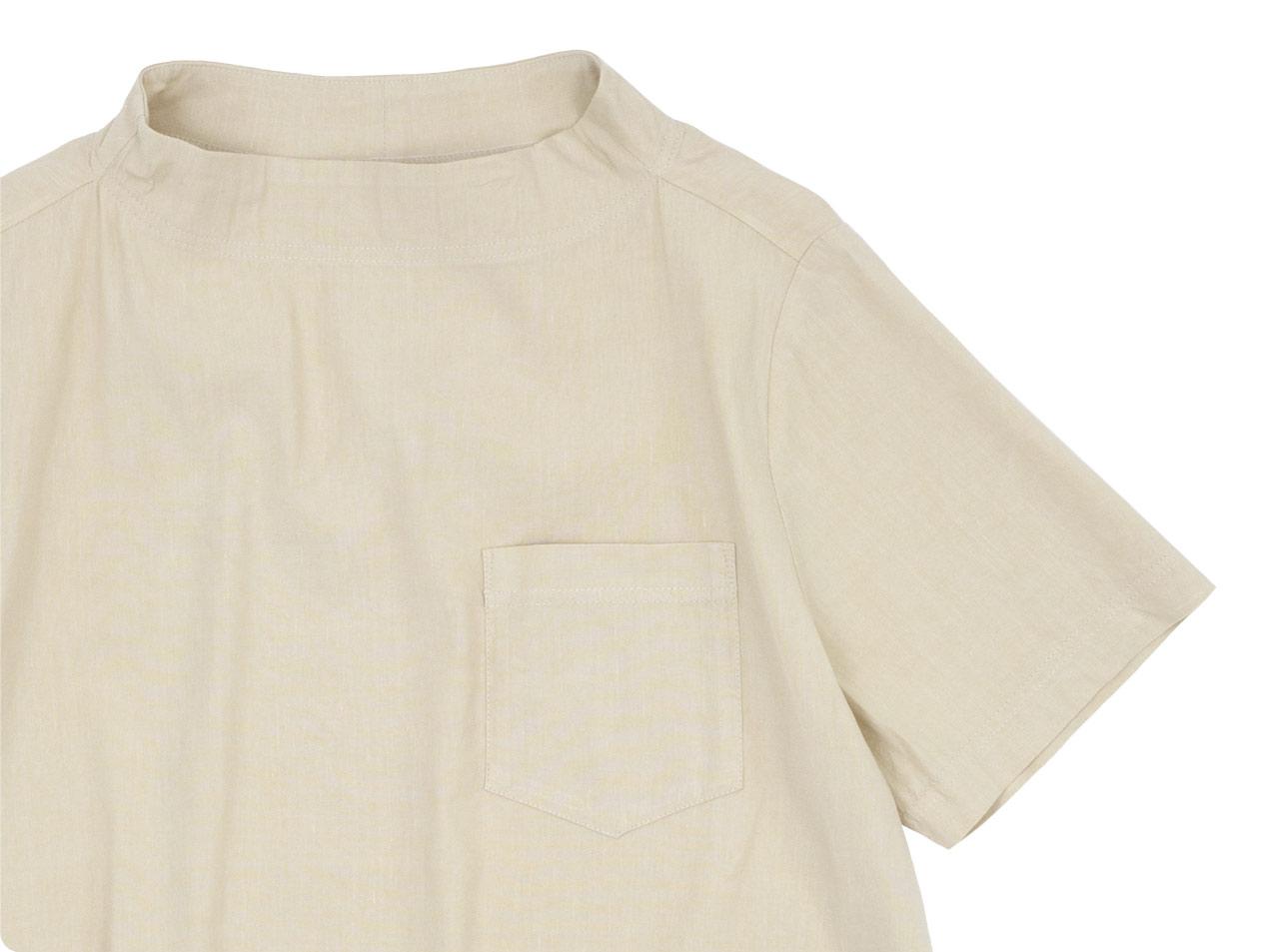 nisica ガンジープルオーバーシャツ 半袖