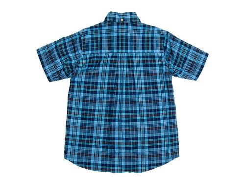 nisica 半袖ボタンダウンシャツ チェック