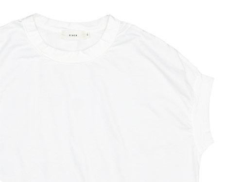 RINEN 60/2スーピマ天竺 フレンチスリーブTシャツ