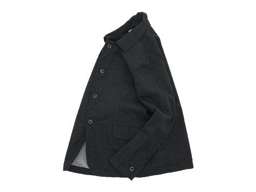 RINEN 2/36ウール平織 カバーオールジャケット 24チャコール杢〔レディース〕