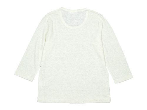 RINEN 40/1リネン天竺 7分袖Uネック