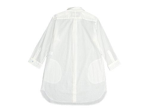 RINEN 80/1タイプライター 7分袖ラウンドカラーロングシャツ