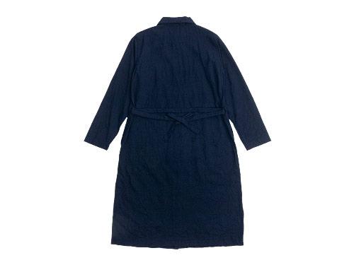 RINEN 2/80ウール平織 レギュラーカラーワンピース