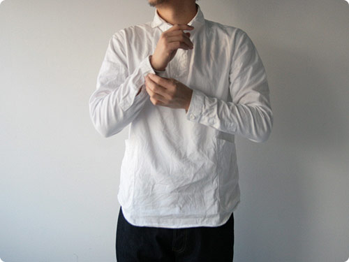 LOLO コットンプルオーバーシャツ