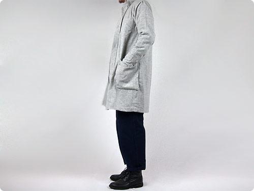 LOLO カシミア混ウールシャツコート / タスマニアウールメルトン ショートPコート