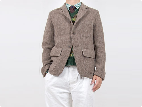ENDS and MEANS Hunting Wool Jacket / Camel knit
