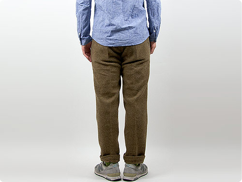 ENDS and MEANS Wool Grandpa Trousers