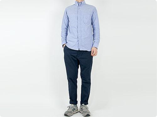 nisica 長袖ボタンダウンシャツ / 長袖デッキマンシャツ