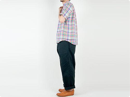 STANDART AT HAND Scott リネン半袖シャツ