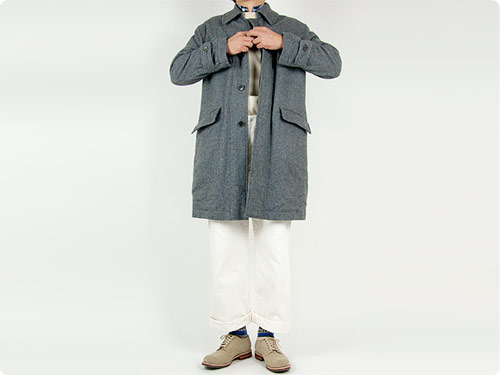 TOUJOURS(トゥジュー) Over Size Soutien Collar Coat