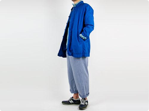 RINEN 40/1オーガニックブロード ステンカラーコート