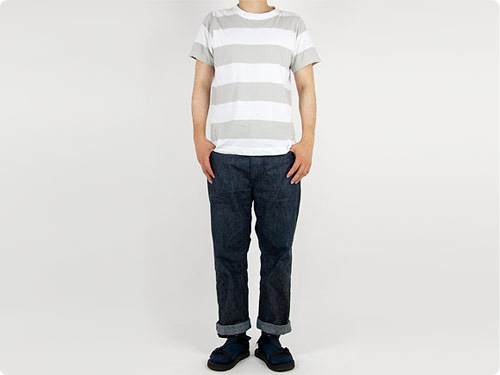 homspun 半袖Tシャツ着用画像 身長173cm 65kg XXL着用