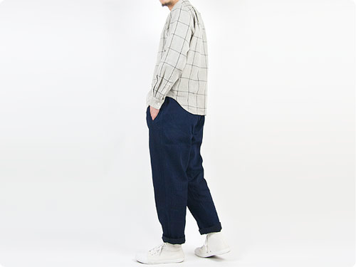 maillot wool linen easy pants