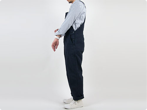 MHL. FADED COTTON TWILL OVERALLS