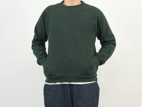 THE HINOKI オーガニックコットン裏起毛 スウェットシャツ