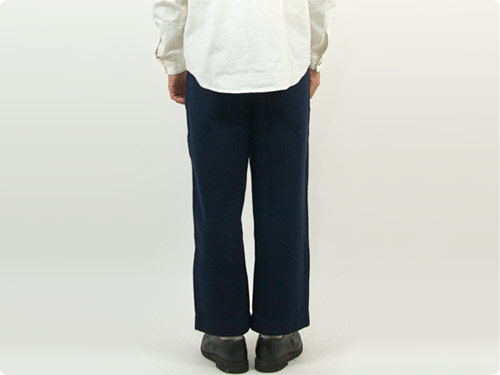 maillot b.label cotton melton wide easy pants