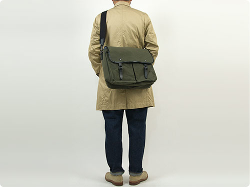 MARGARET HOWELL x PORTER PARAFFIN WAXED COTTON SHOULDER BAG