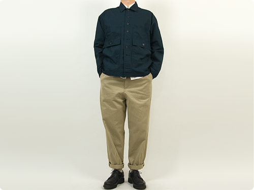 YAECA CHINO CLOTH PANTS TUCK TAPERED BEIGE 〔メンズ〕