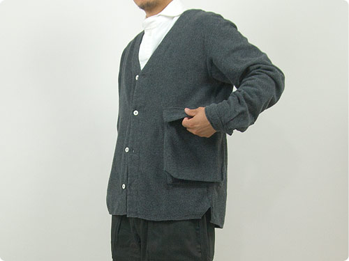 LOLO 起毛シャンブレー Bagポケット カーデシャツ