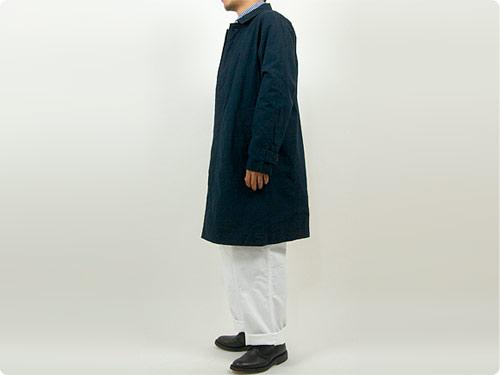 RINEN 40/2高密度平織 ステンカラーコート