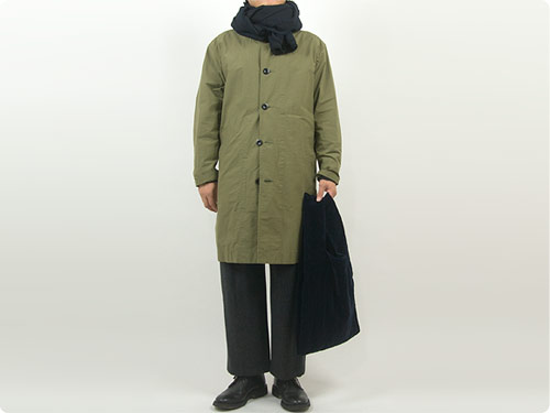 MHL. WASHED COTTON POPLIN COAT