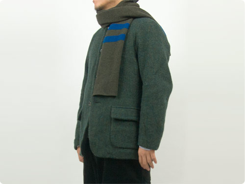 MHL. LAMBSWOOL ODD STRIPE FELTED SCARF