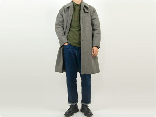 MHL. JAPANESE WOOL SHIRTING OVERHEAD SHIRT