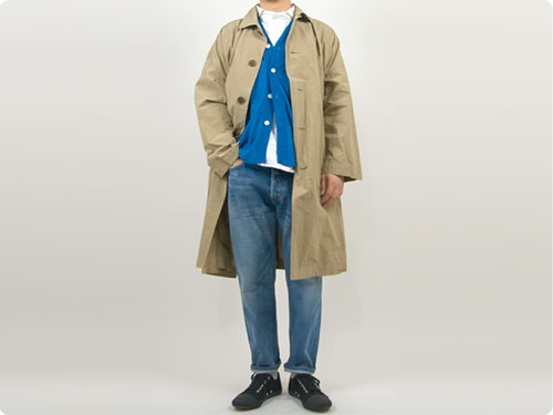 ordinary fits MAVIS Oversized Coat / 5POKET ANKLE DENIM USED WASH