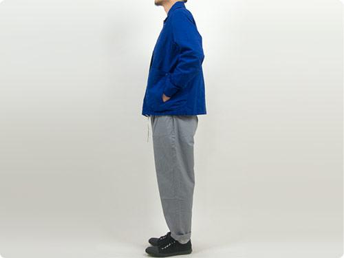 maillot cotton linen canvas snap deck jacket