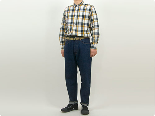 MARGARET HOWELL GRAPHIC LINEN CHECK SHIRTS