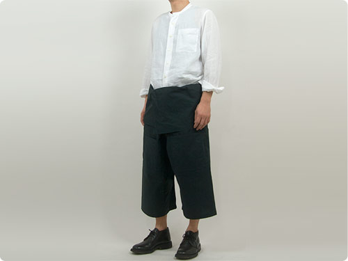 MARGARET HOWELL SHIRTING LINEN NO COLLAR SHIRTS 〔メンズ〕