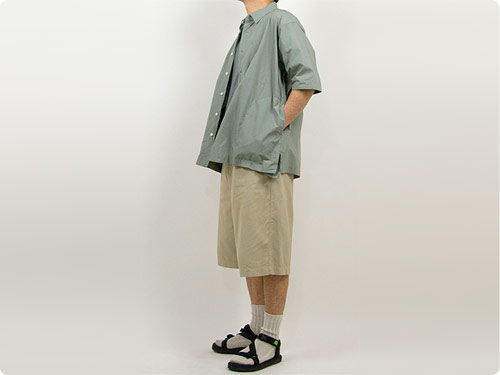TOUJOURS Half Sleeve Big Coverall Shirt