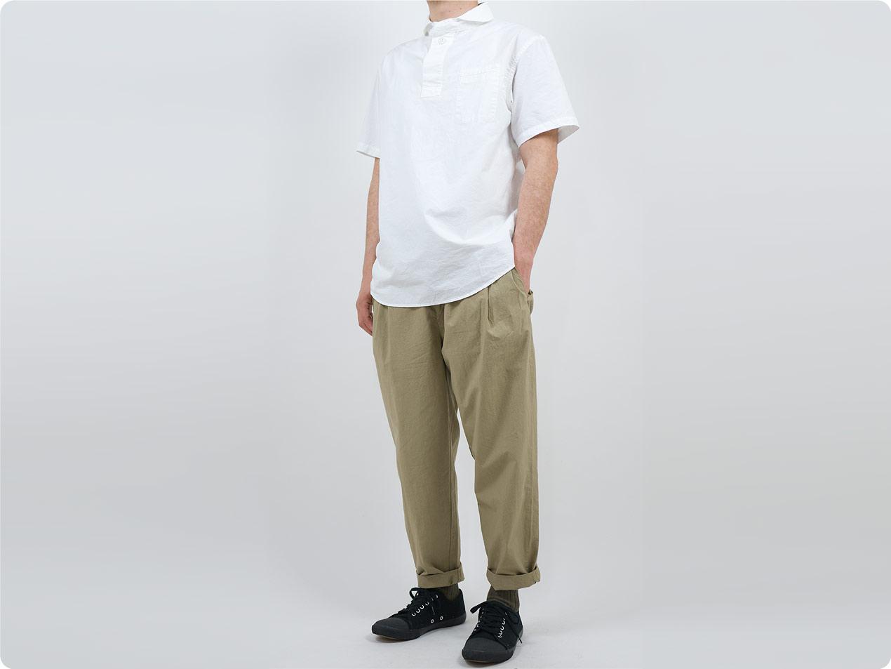 OLO コットン半袖 プルオーバーシャツ