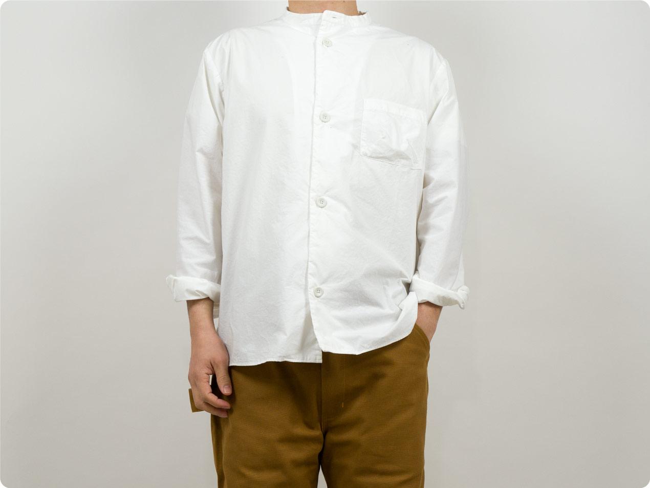 LOLO 40タイプライター スタンドカラーシャツ