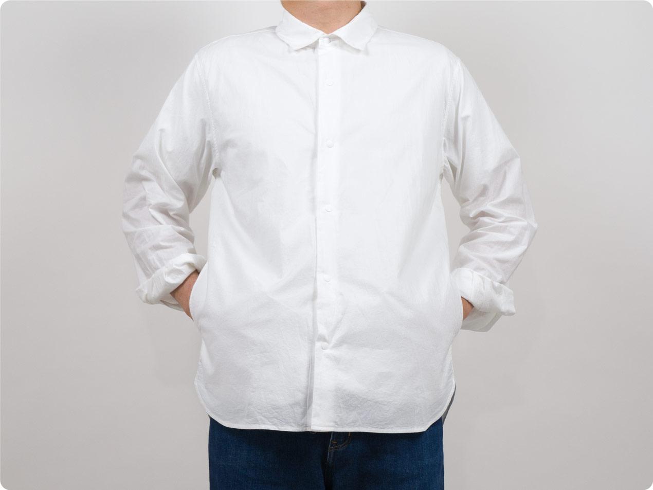 YAECA コンフォートシャツ リラックス ロング 〔メンズ〕
